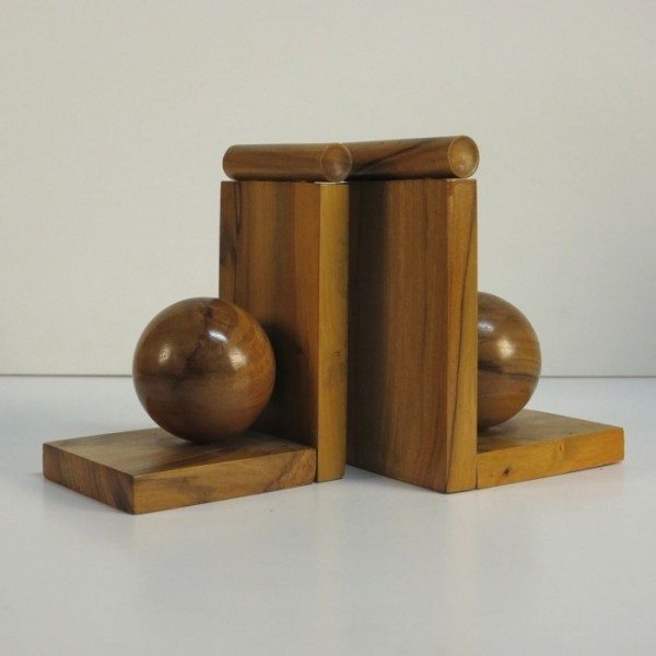 Art Deco wood bookends....