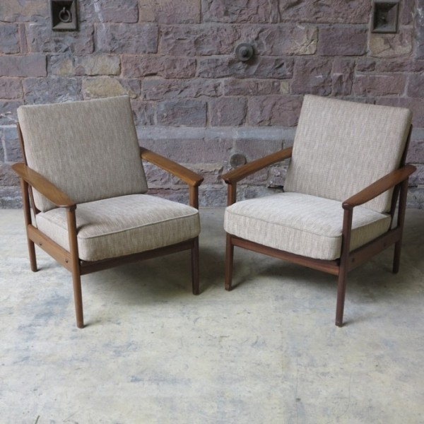 Two armchairs in...