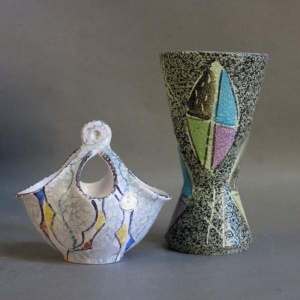 Two vintage ceramic vases...