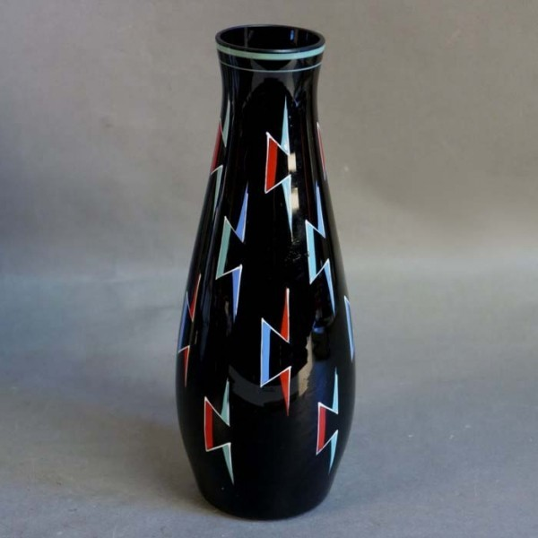 Vintage glass vase with...