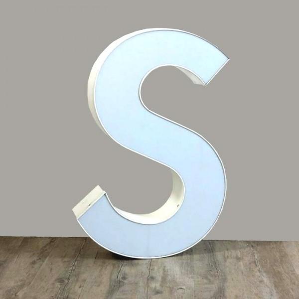 Vintage sign letter - S -...