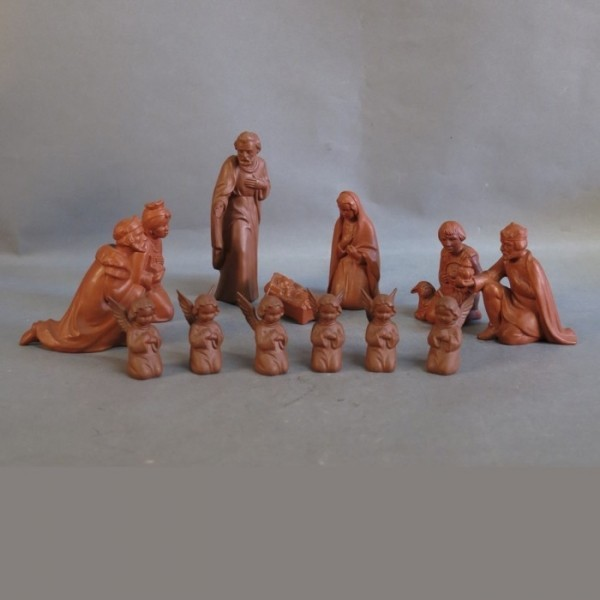 13 Porcelain nativity...