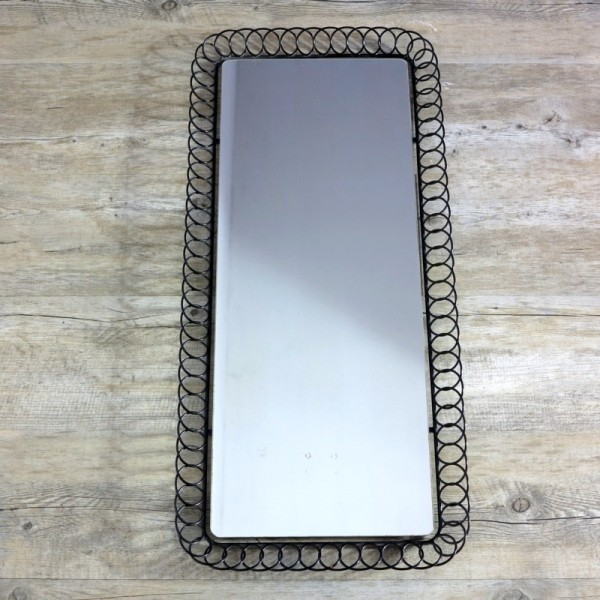 Wall mirror with corrugated...