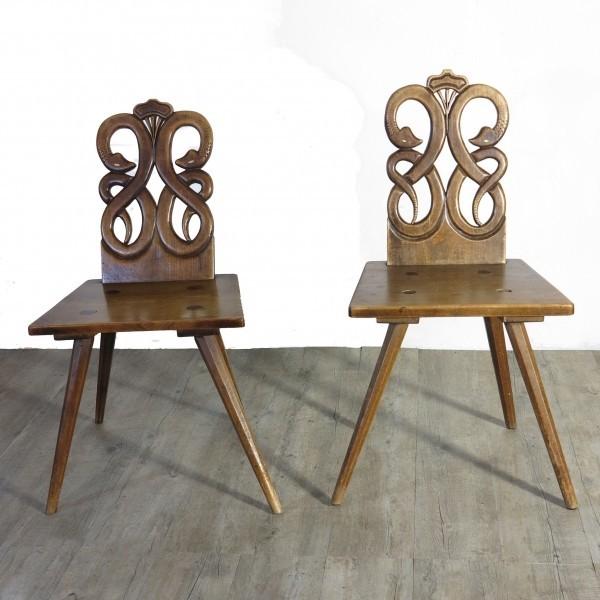 Two German Baroque Wood...