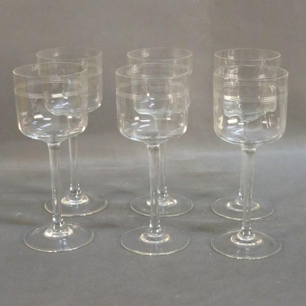 Six Art Nouveau wine...