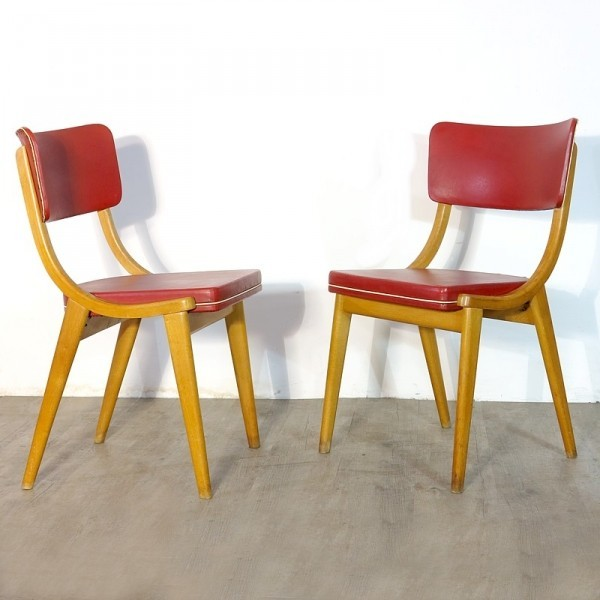 Vintage wooden chairs with...