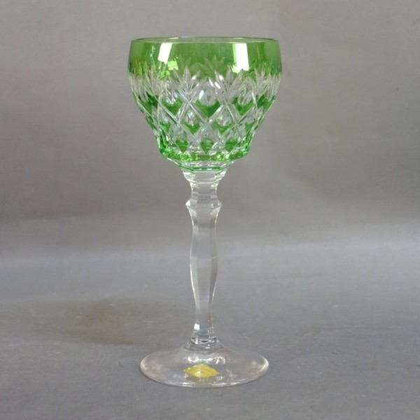 Green Bohemia glass 1940 -...