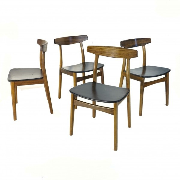 Set of four dining chairs...