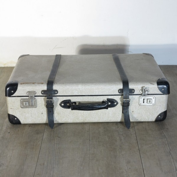 Antique travel suitcase for...