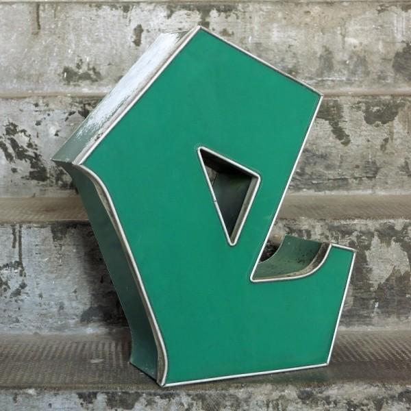 Vintage sign letter - e -...