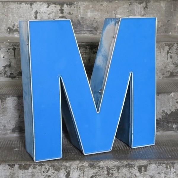 Vintage sign letter - M -...