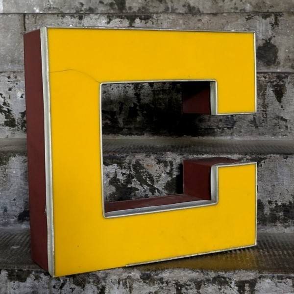 Vintage sign letter - C -...