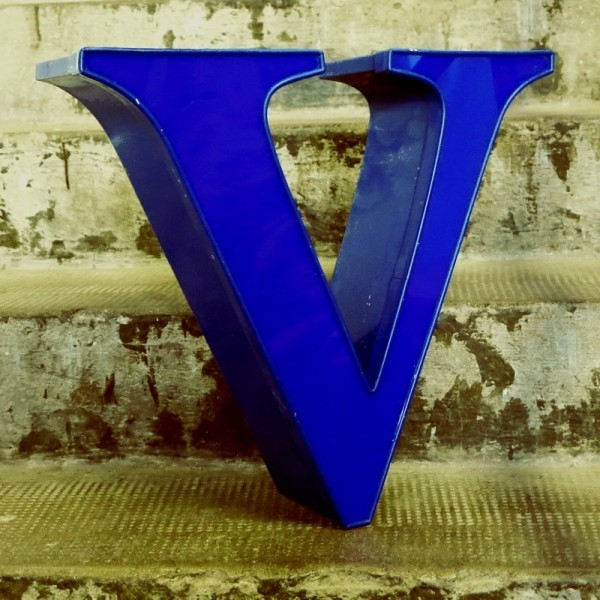 Vintage sign letter - V -...