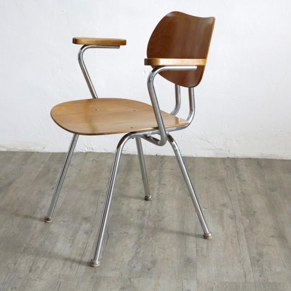 Chrome tubular chair from...