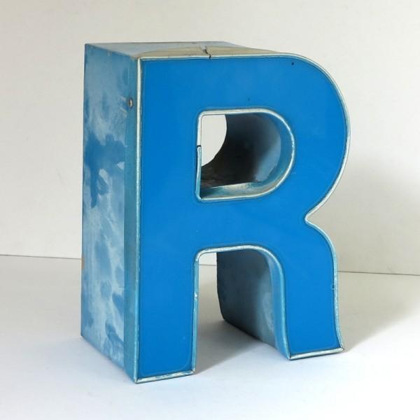 Vintage sign letter - R -...