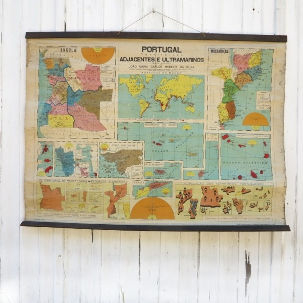 Vintage map of Portugal....