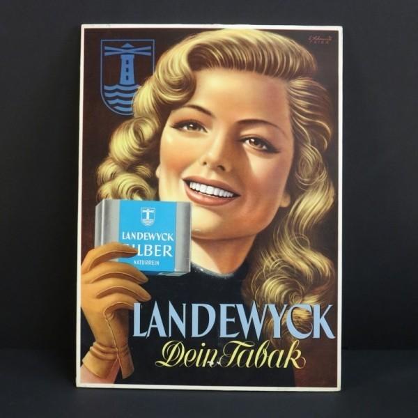 Advertising cardboard...