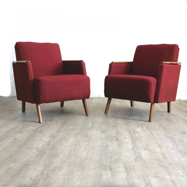Two vintage armchairs....