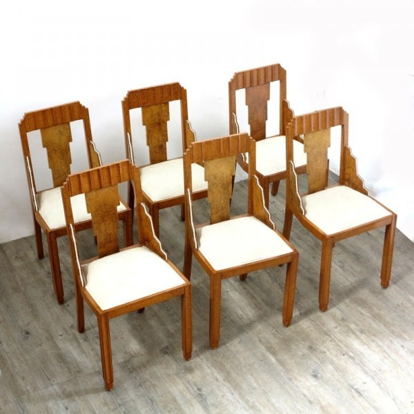 Set of six Art Deco Chairs,...