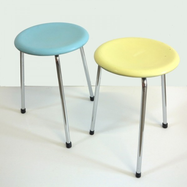 Two Vintage Stools. Germany...