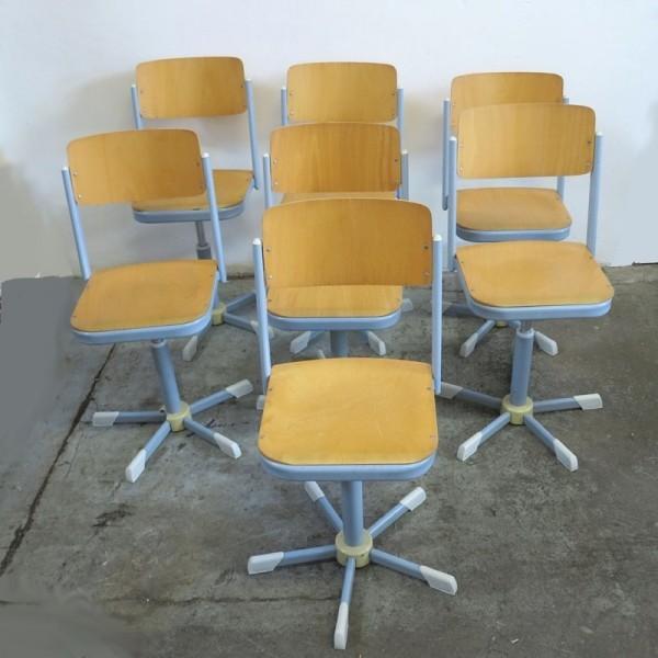 Vintage chair in industrial...