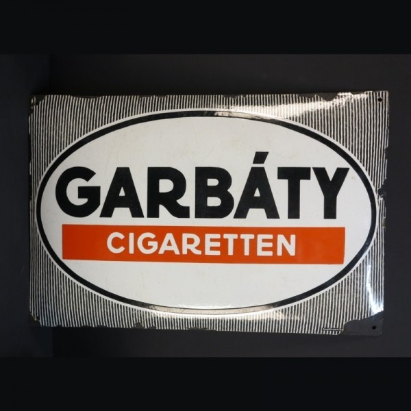 "Advertising sign ""Garbaty..."