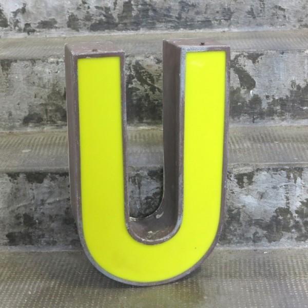 Vintage sign letter - U -...