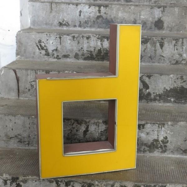 Vintage sign letter - d -...
