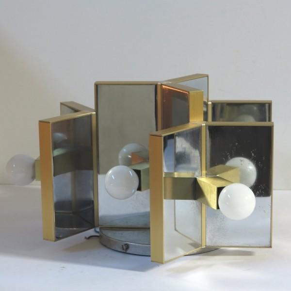 Design ceiling mirror brass...