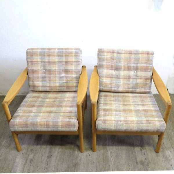 Two armchairs with original...
