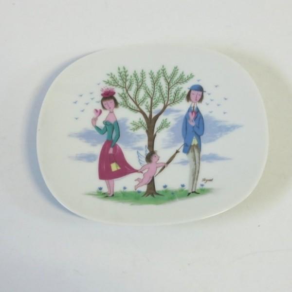 Plato de porcelana de...