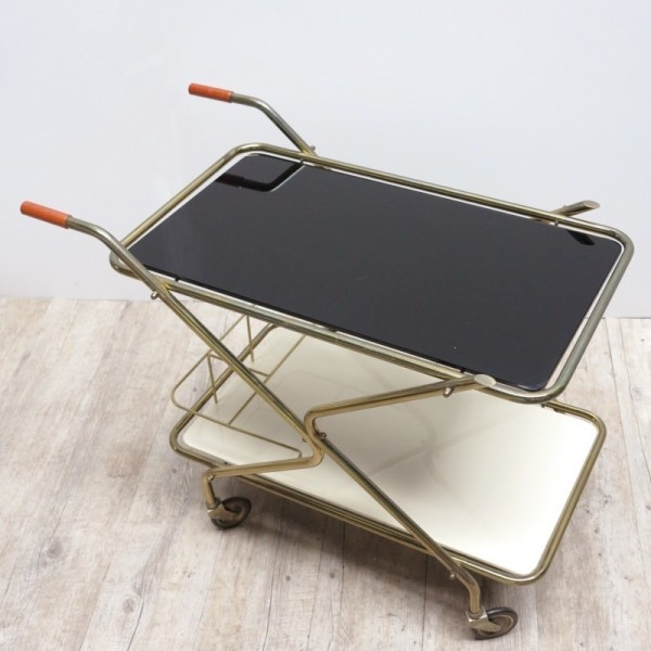 Serving trolley with two...