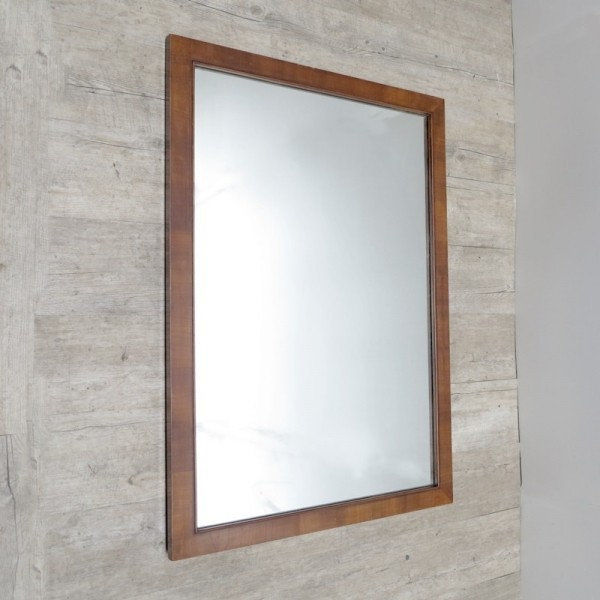 Large mirror with wooden...