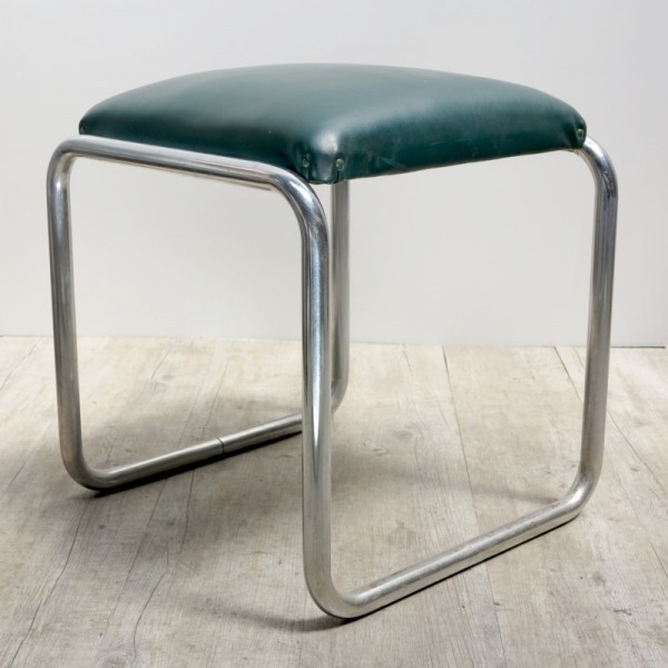 Tubular steel stool. 1950 -...