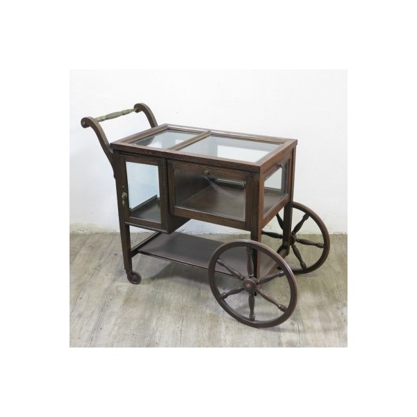 Antique serving trolley...