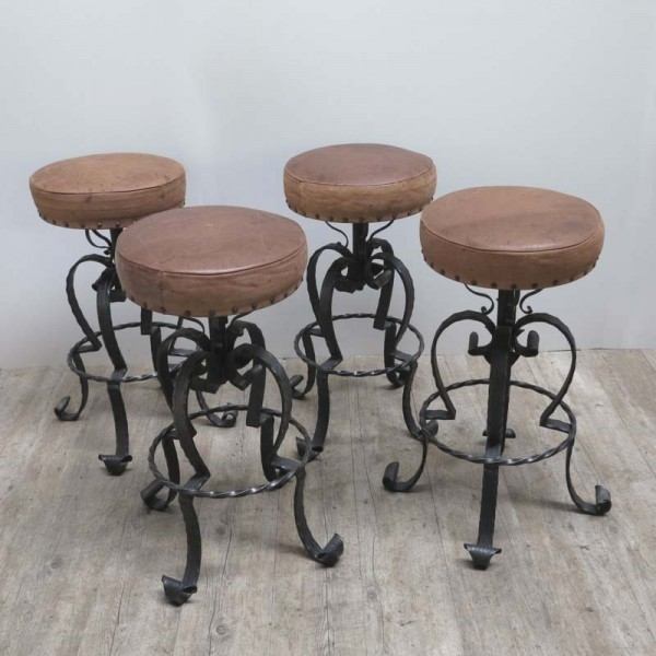 Four bar stools made of...