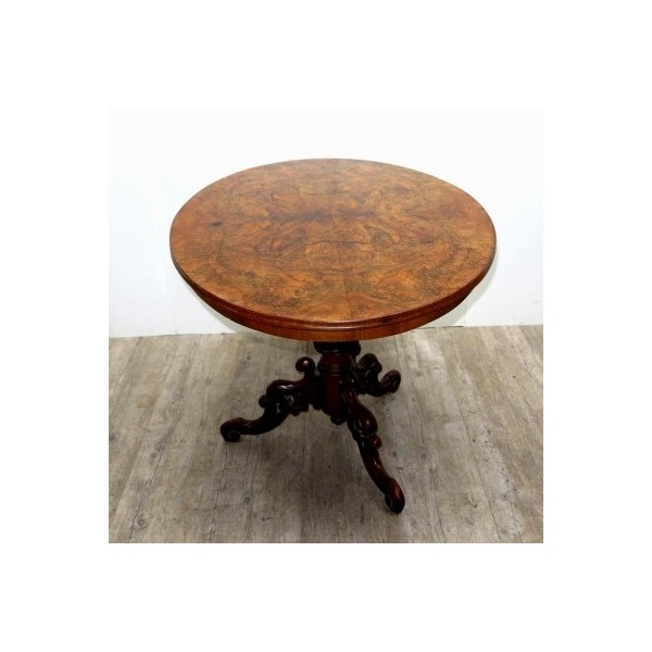 Antique table with carved...