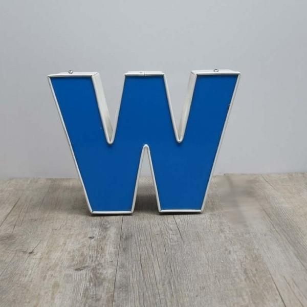 Vintage sign letter - W -...