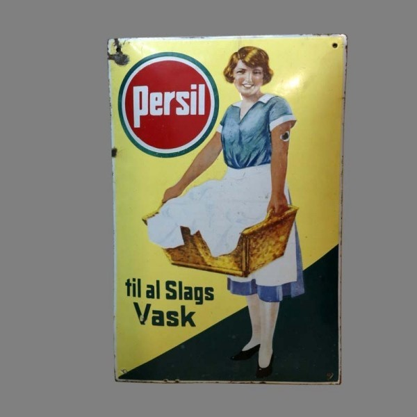 Advertising sign Persil....