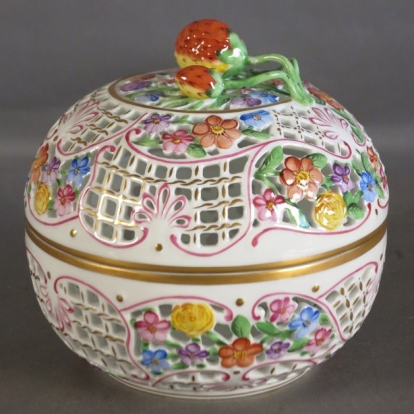 Porcelain box from Herend....