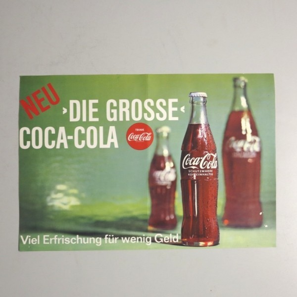 Raro. Cartel de Coca Cola....