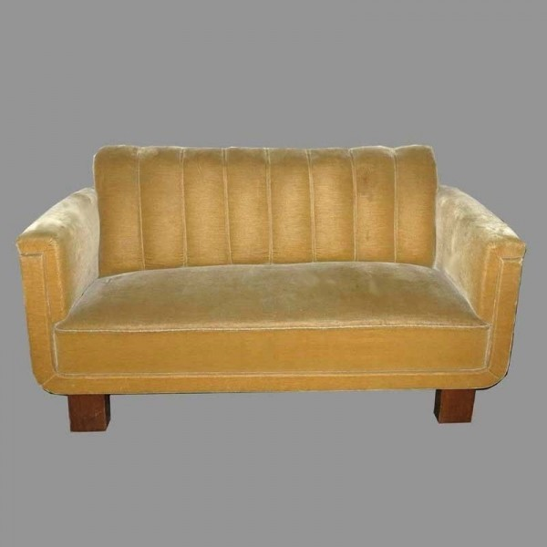 Art deco sofa with two...