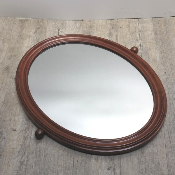 Antique wooden mirror. Art...