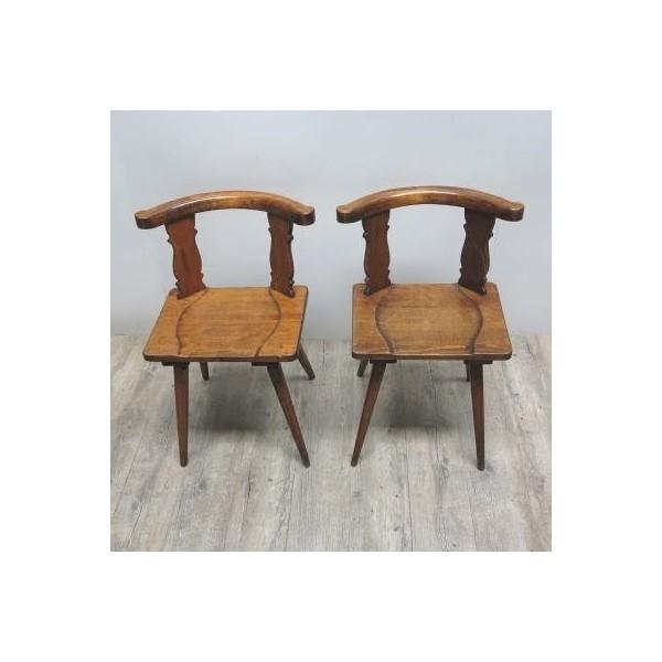Zwei Antike Holzstühle....