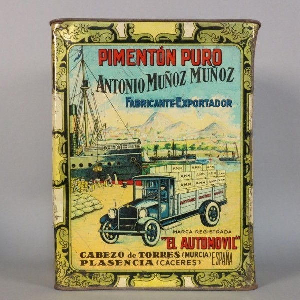 Advertising tin. Pimenton...