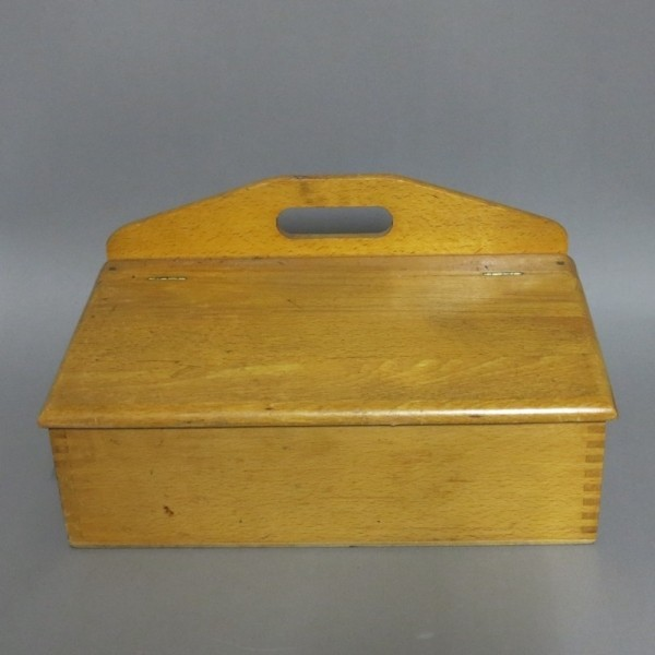 Wooden box for shoe polish...