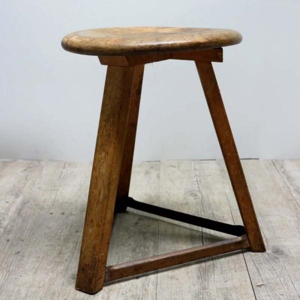 Industrial wood stool....