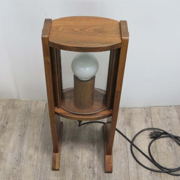 Vintage wooden floor lamp...