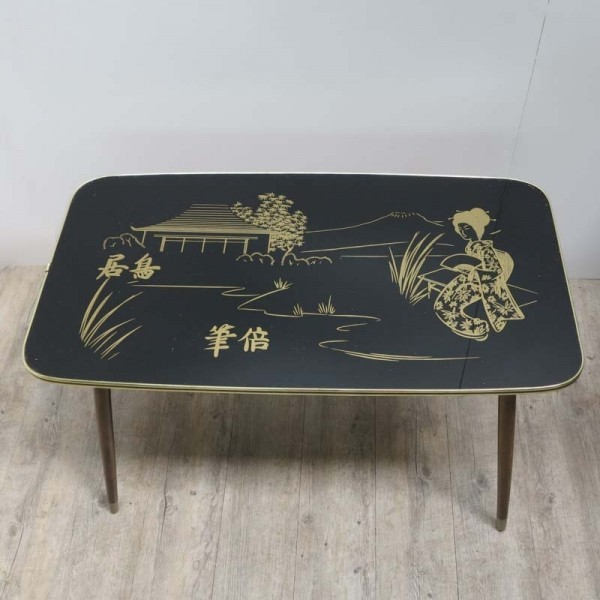 Vintage table with oriental...