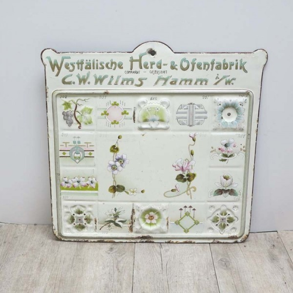 Enamel pattern sign for...